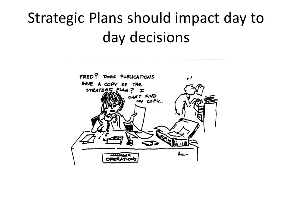 Strategic Plans should impact day to day decisions