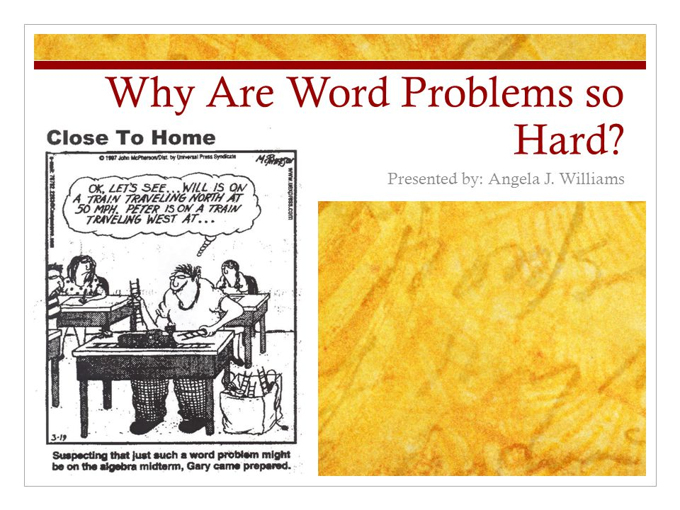 What do we do to help students survive word problems.