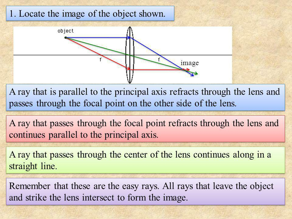2. Where is the image when the object is far from the lens?