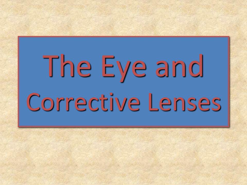The Eye and Corrective Lenses