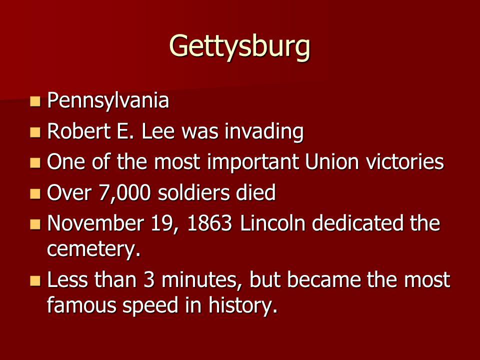 Gettysburg Pennsylvania Robert E.