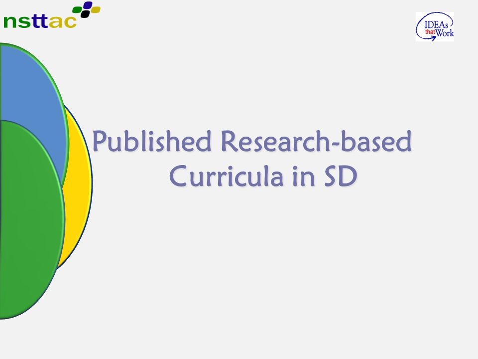 Published Research-based Curricula in SD