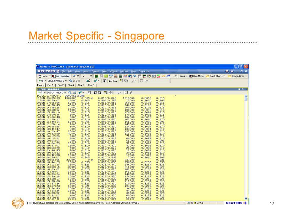 13 Market Specific - Singapore