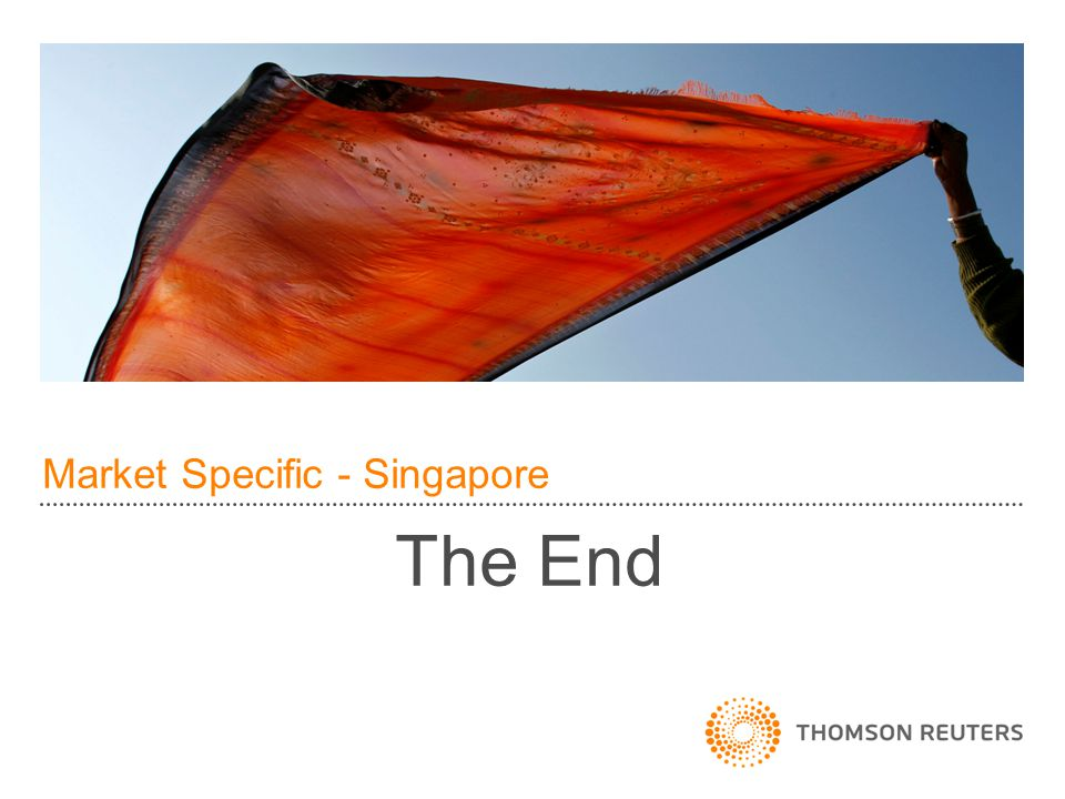 Market Specific - Singapore The End