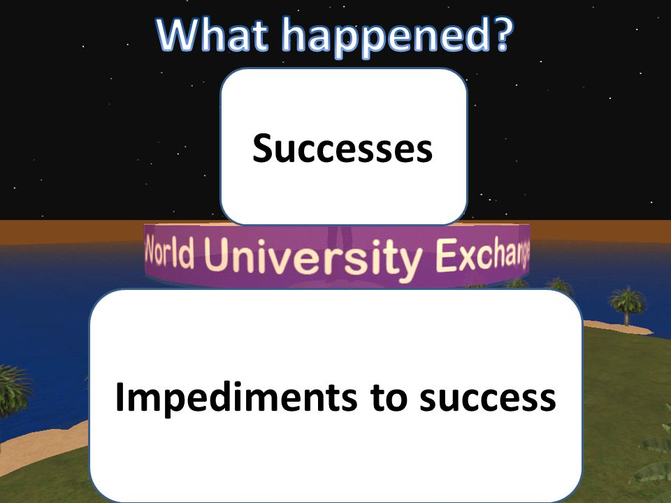 Successes Impediments to success