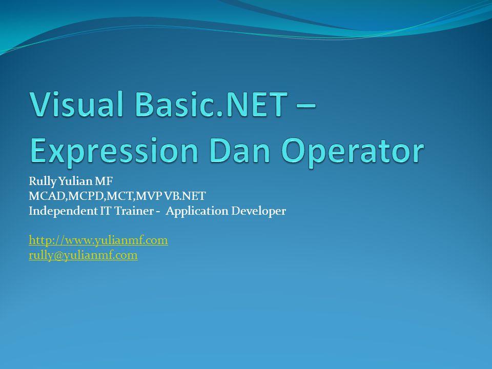 Overview Expression Operator Operator Precedence Operator Overloading