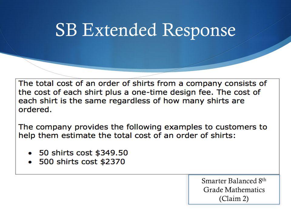 SB Extended Response