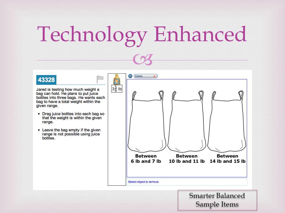  Technology Enhanced Smarter Balanced Sample Items
