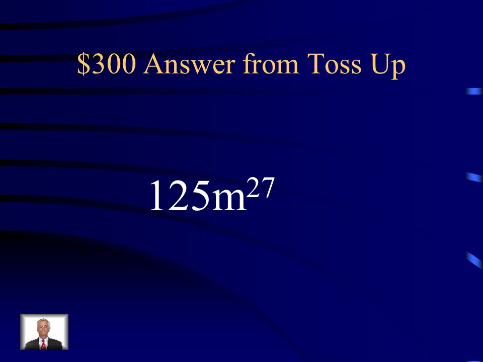 $300 Question from Toss Up