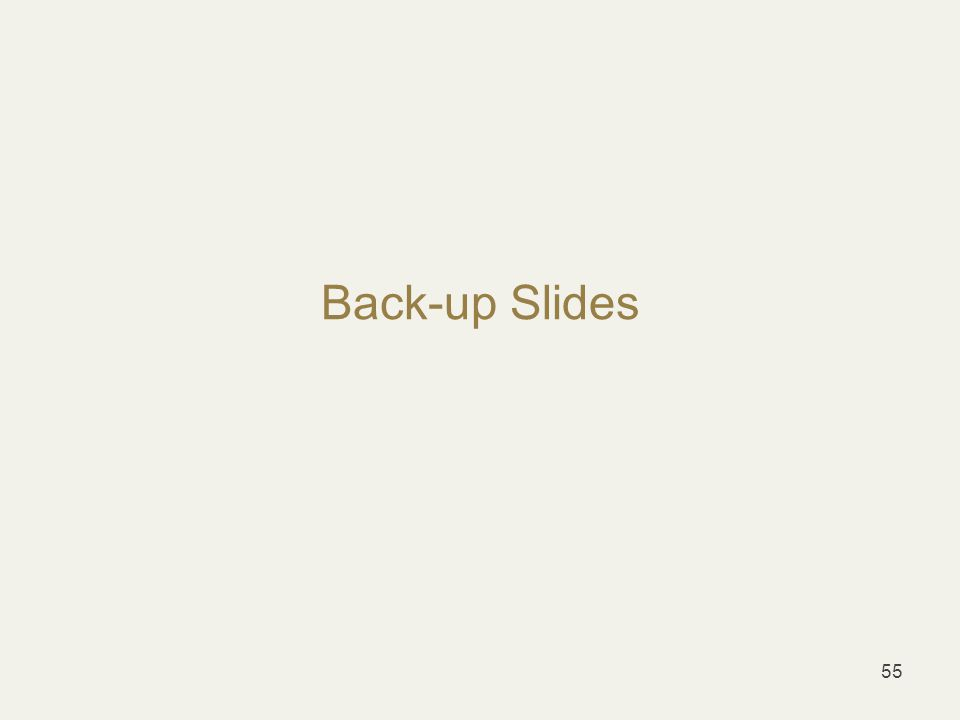 Back-up Slides 55