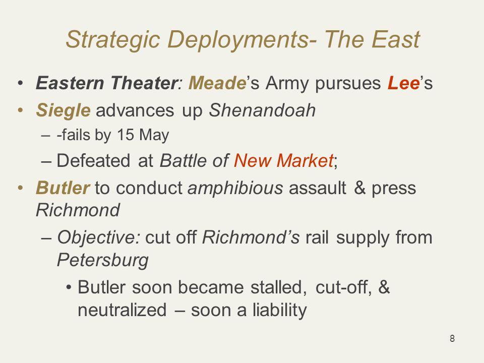 29 Western Theater – Atlanta Campaign Sherman heads south Map Commanders' strengths & weaknesses: –Sherman vs.
