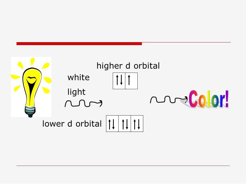 white light lower d orbital higher d orbital