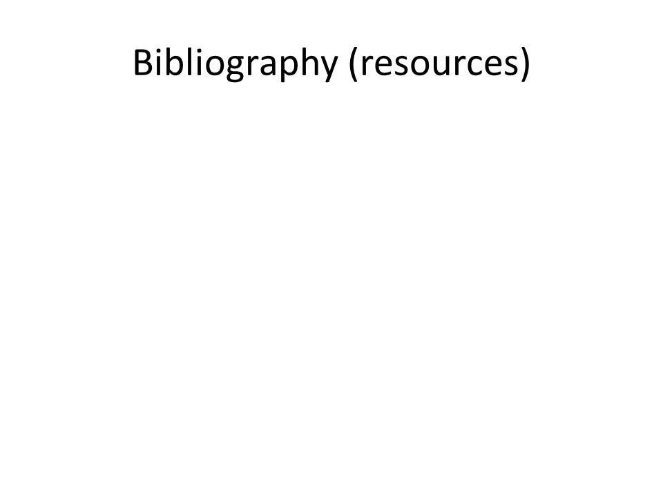 Bibliography (resources)