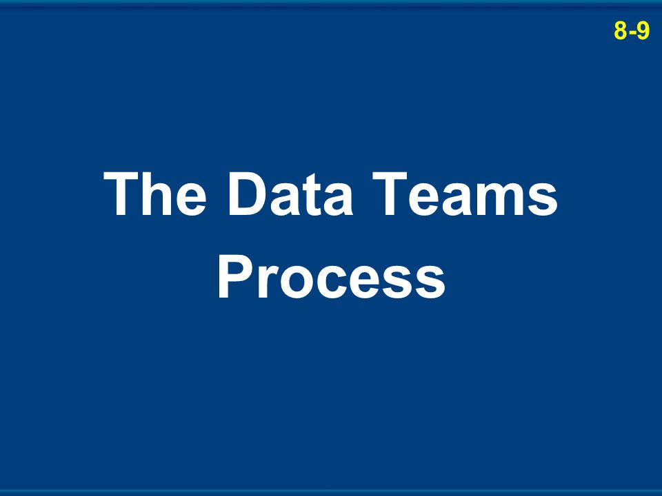 The Data Teams Process 8-9