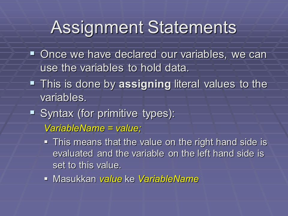 Declaring variables  Examples:  The following statements will declare  an integer variable called studentNumber to store a student number:  a doub