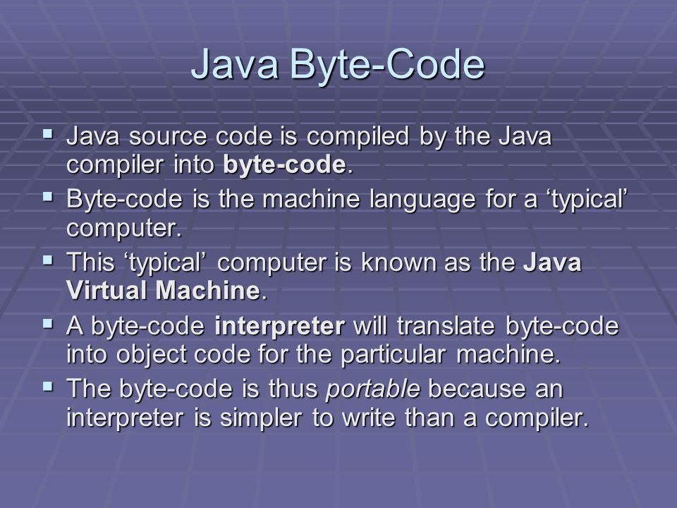 History of Java  The Java programming language was developed at Sun Microsystems  It is meant to be a portable language that allows the same program