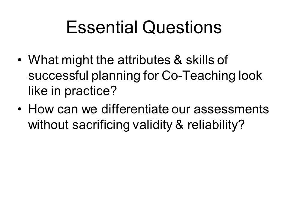 Why Co-Teach .