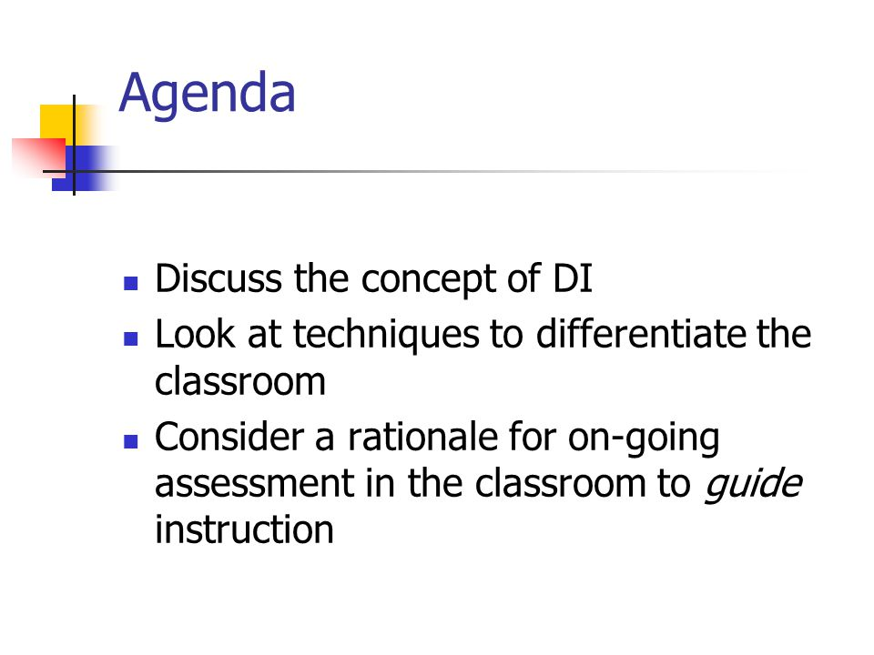 4 What It Is/What It's Not Differentiated Instruction IS: Differentiated Instruction IS NOT: