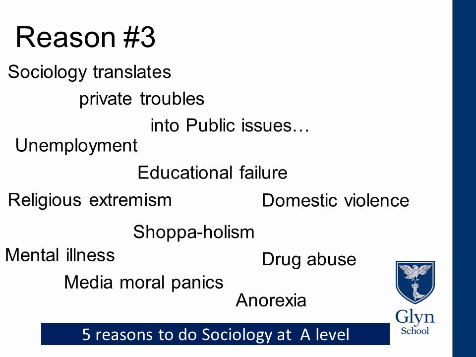 Reason #4 Sociology is well respected by Universities.