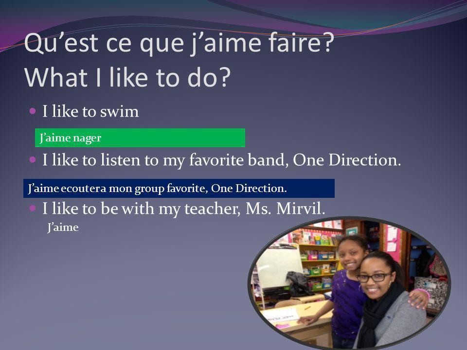 La musique I really like music.
