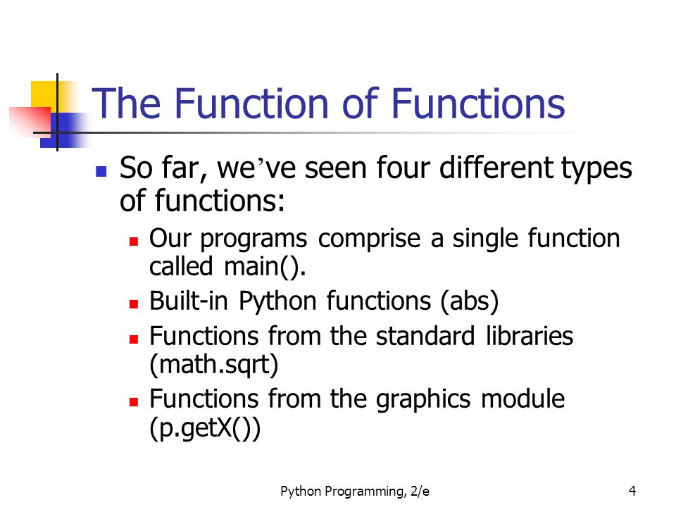 Python Programming, 2/e65 Functions that Modify Parameters Control then transfers to the addInterest function.