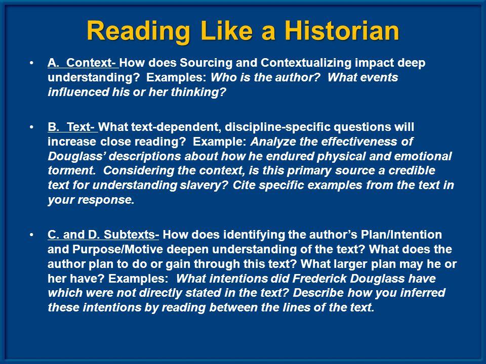 Reading Like a Historian A.