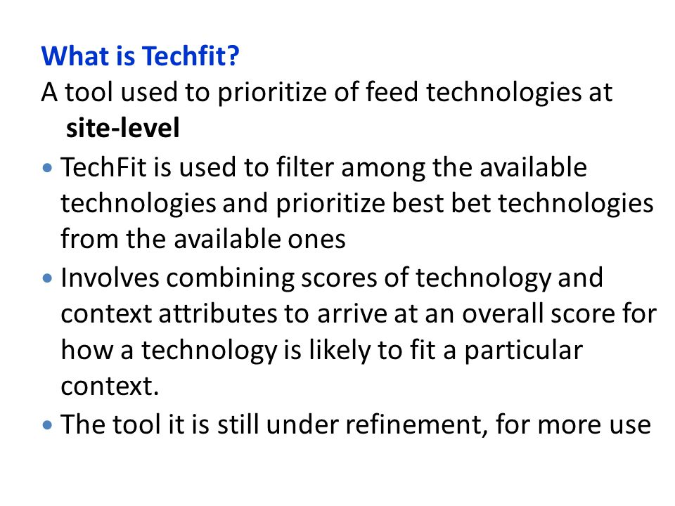 What is Techfit.