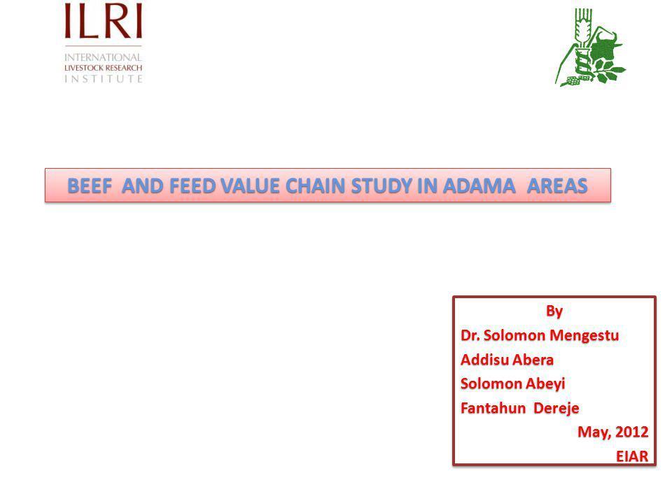 By Dr.Solomon Mengestu Addisu Abera Solomon Abeyi Fantahun Dereje May, 2012 EIARBy Dr.