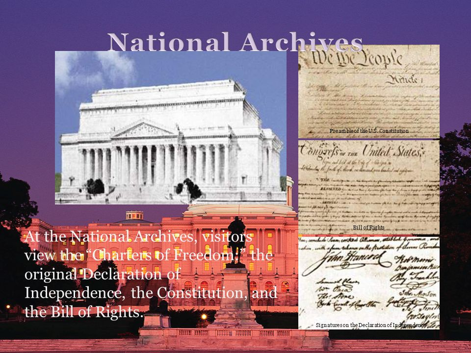 The National Archives Preamble of the U.S.