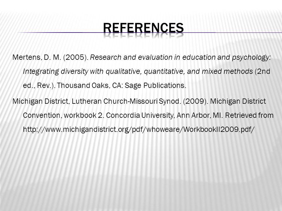 Mertens, D. M. (2005).