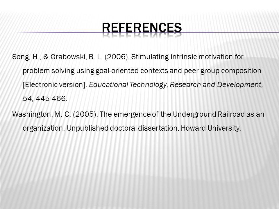 Song, H., & Grabowski, B. L. (2006).