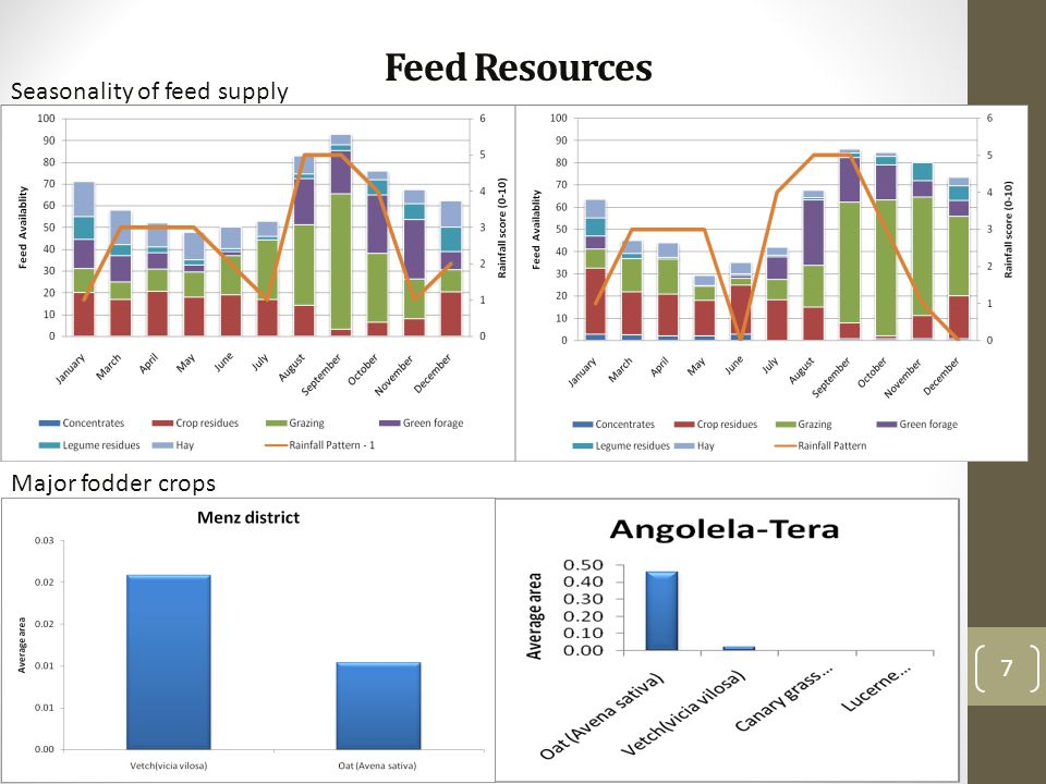 Feed Resources 7 Major fodder crops Seasonality of feed supply