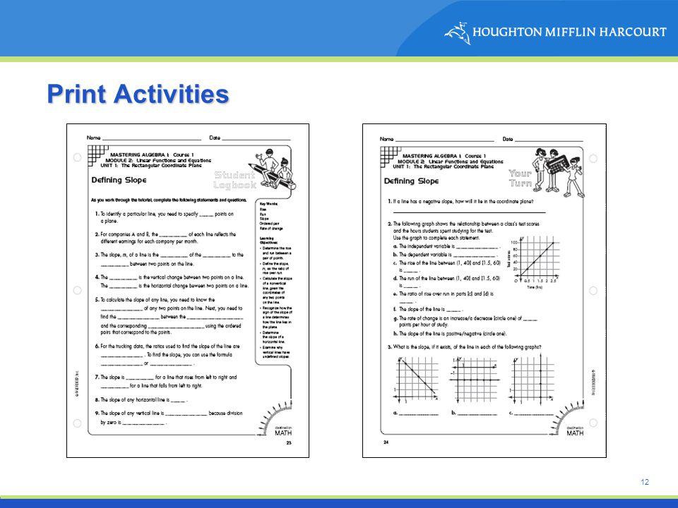 12 Print Activities