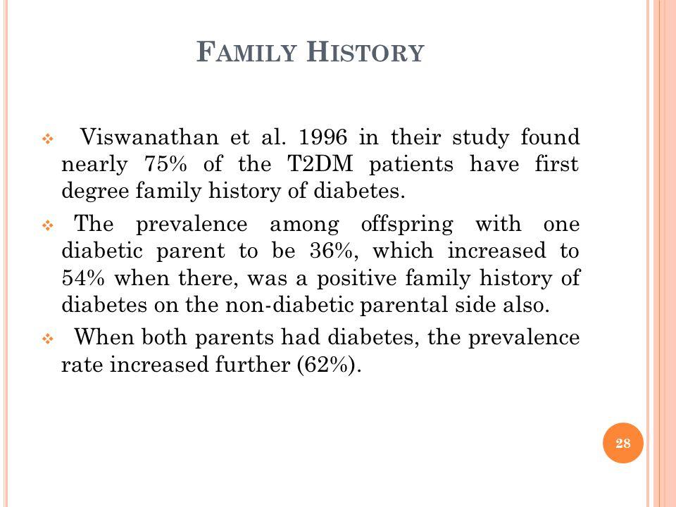 F AMILY H ISTORY  Viswanathan et al.