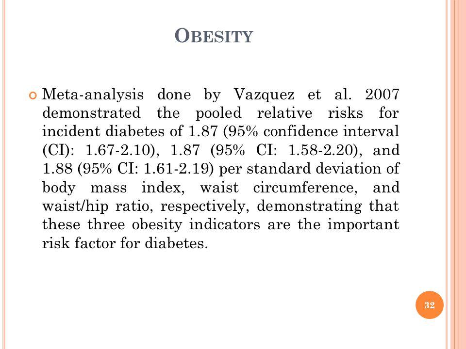 O BESITY Meta-analysis done by Vazquez et al.