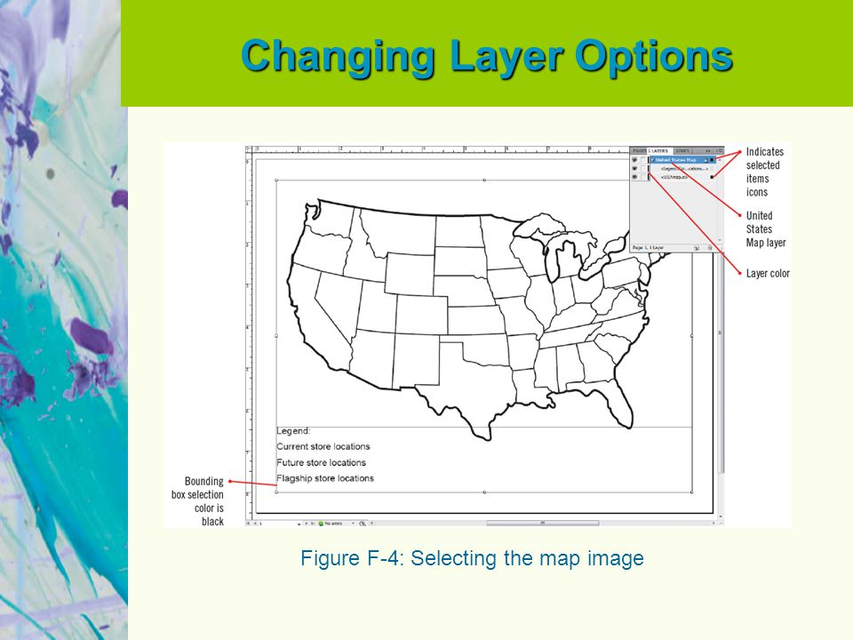 Changing Layer Options Figure F-4: Selecting the map image
