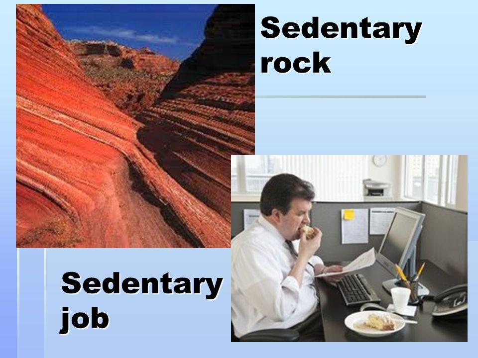 Sedentary rock Sedentary job