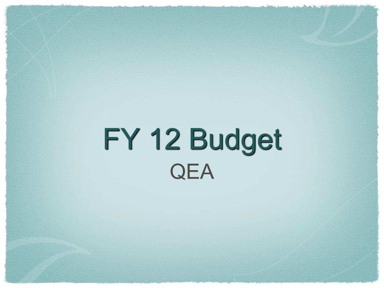 FY 12 Budget QEA