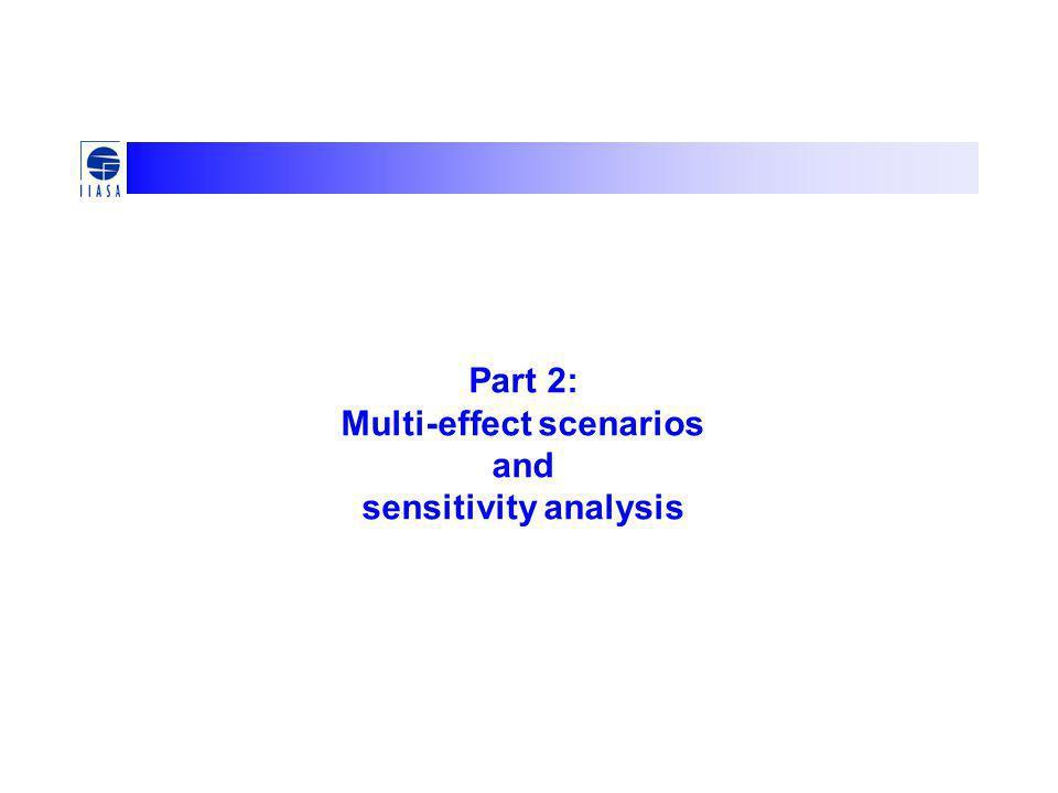 Part 2: Multi-effect scenarios and sensitivity analysis