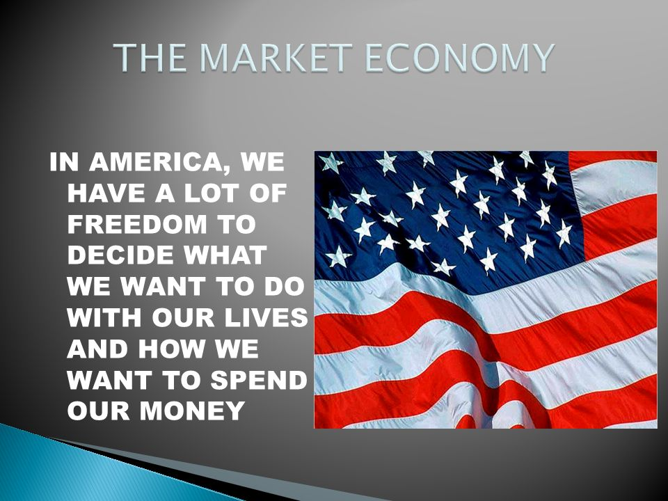 IN AMERICA, WE HAVE A LOT OF FREEDOM TO DECIDE WHAT WE WANT TO DO WITH OUR LIVES AND HOW WE WANT TO SPEND OUR MONEY