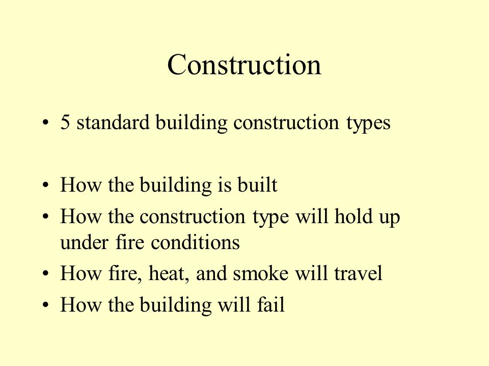 Occupancy What is the building used for What is found there What the general condition of occupants is before the the incident How the occupants will react