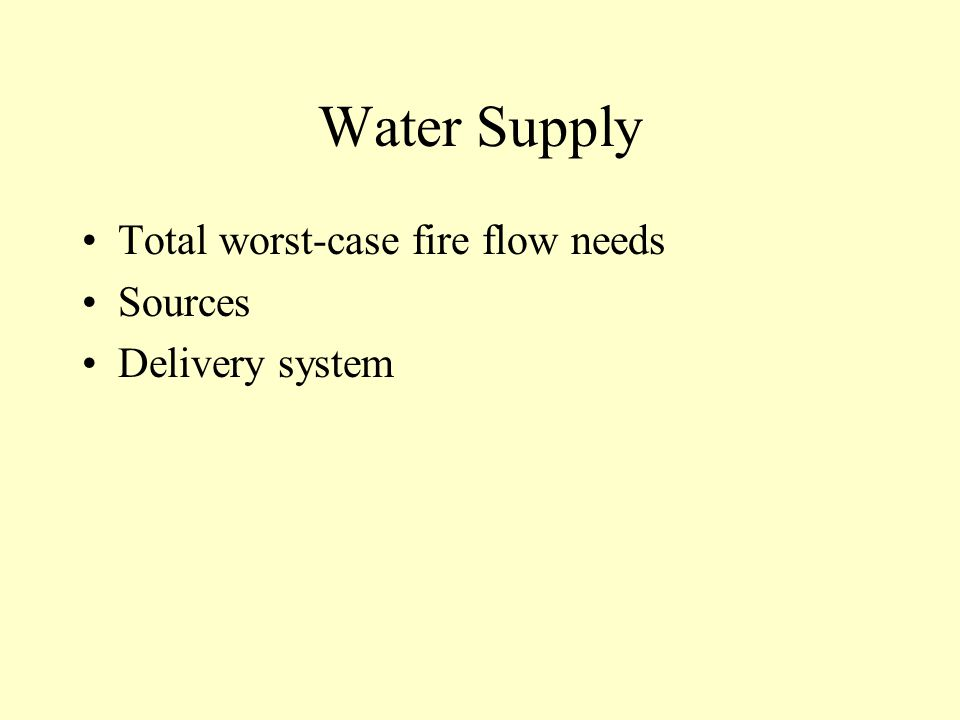 Apparatus, Personnel, Equipment Pumping and firefighting capacity Aerial access Personnel needs FF and Specialized equipment needs