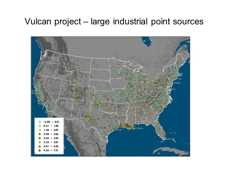 Vulcan project – large industrial point sources