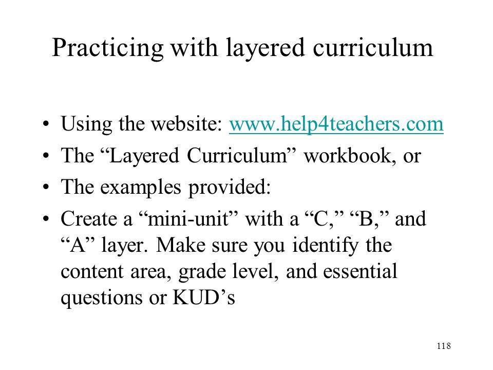 117 Layered Curriculum:Sample Plant Unit Level A: Maximum 20 points.