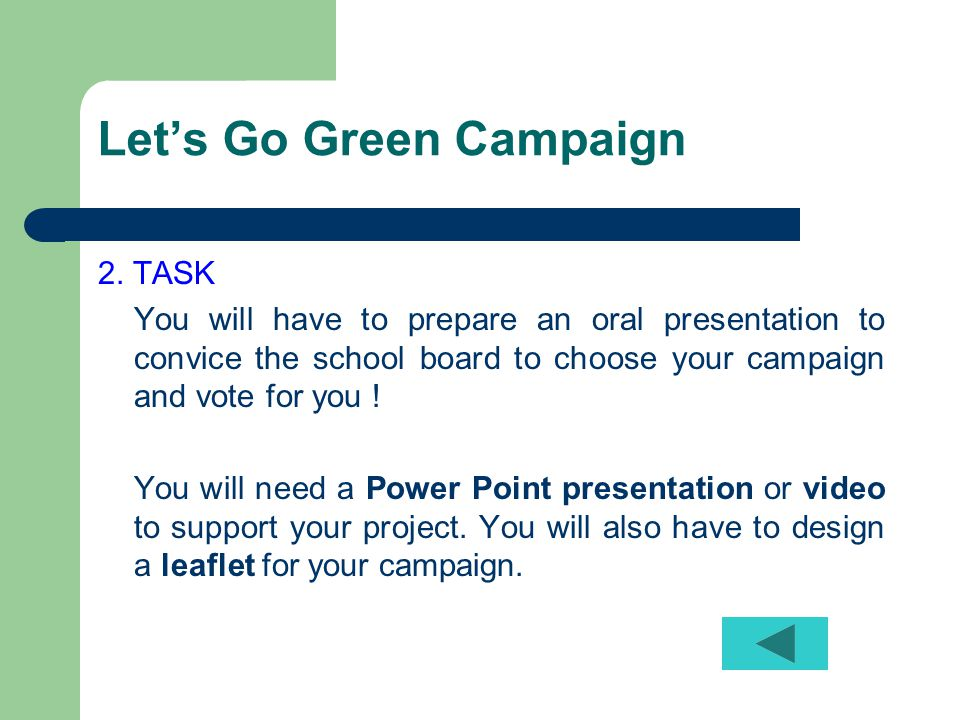 Let's Go Green Campaign 2.