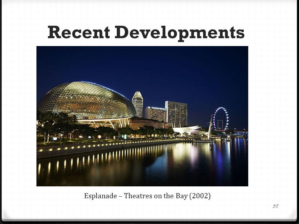 Recent Developments 38 Esplanade – Theatres on the Bay (2002)