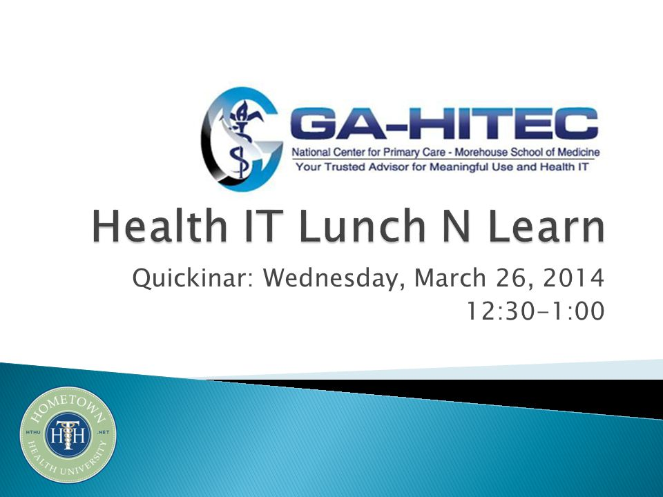 Quickinar: Wednesday, March 26, 2014 12:30-1:00
