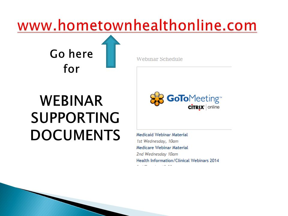 Go here for WEBINAR SUPPORTING DOCUMENTS