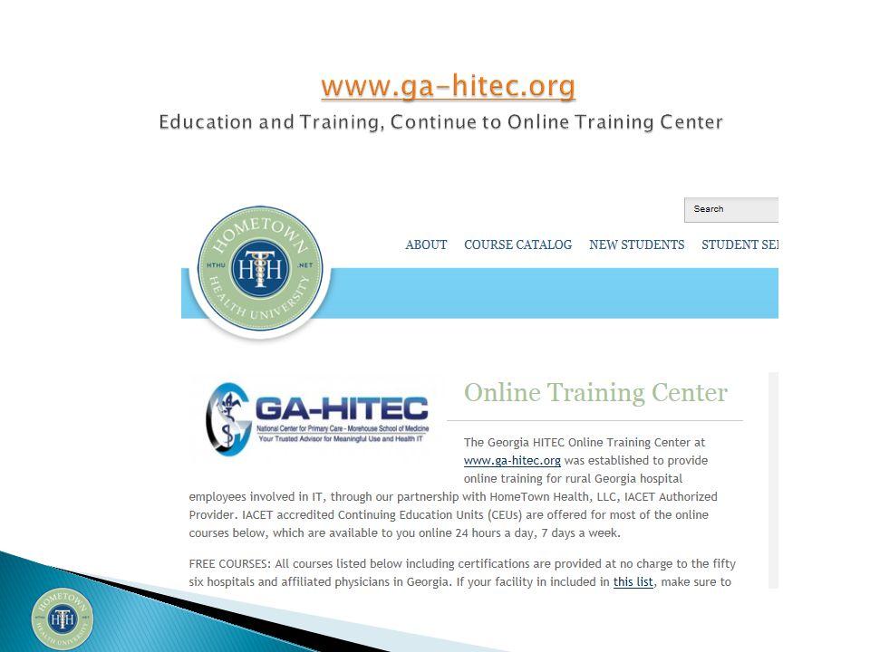 GA-HITEC Customer Service: Phone:404-752-1184 Toll Free - 877-658-1990 FAX: 404-756-5767 Email:info@ga-hitec.org www.ga-hitec.orginfo@ga-hitec.org www.ga-hitec.org HomeTown Health Mark Renfro Email: marenfro@windstream.netmarenfro@windstream.net Sherri Ackerman Email: sherri.ackerman@hometownhealthonline.com