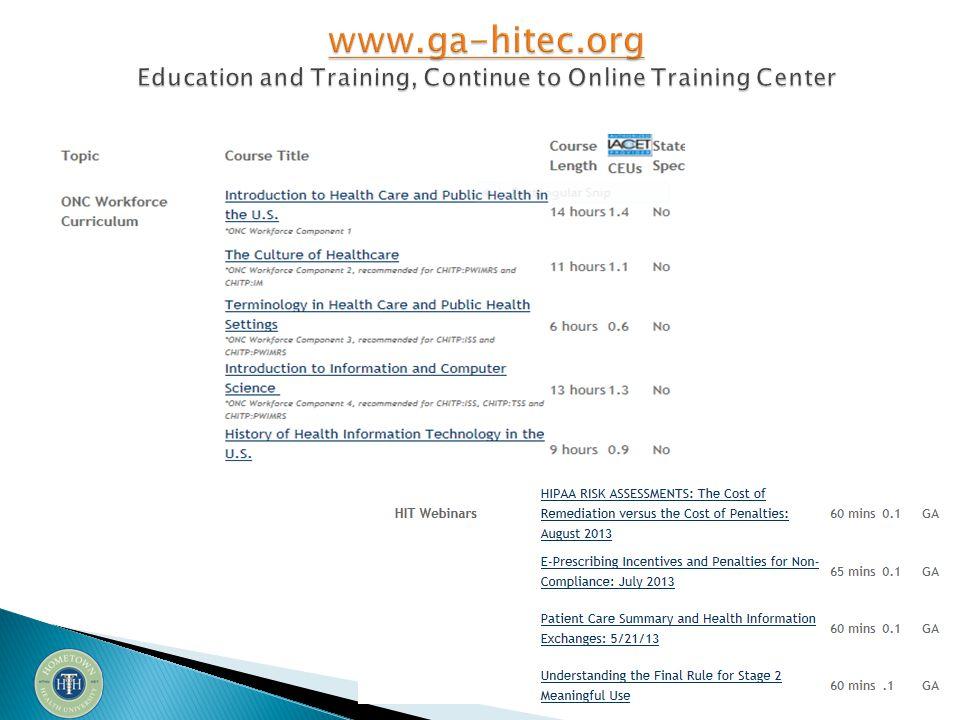November 19 th Attestation Support Session QandA Materials from Attestation Webinars found here: http://ga-hitec.wikispaces.com/Attestation+Support+Session